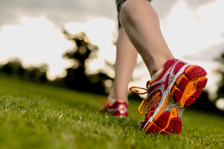 Close up of sportswomen's legs