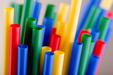 Variety of colorful straws, macro shot Zdjęcie Seryjne