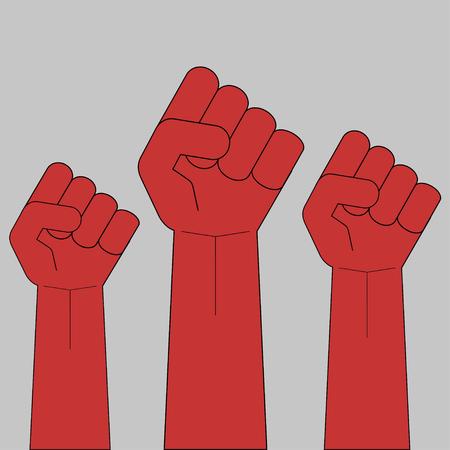 Cerrado puño protesta revolución encuentro encuentro huelga