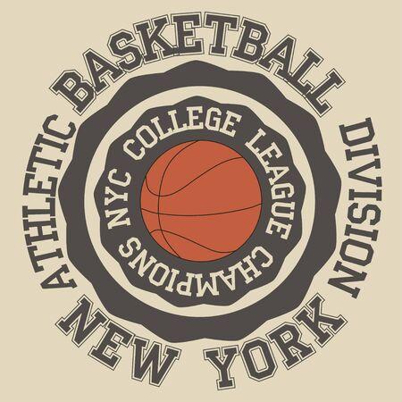 New York Brooklyn sport typografie t-shirt basketbal