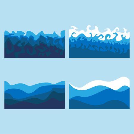 set of ocean waves billows of the sea