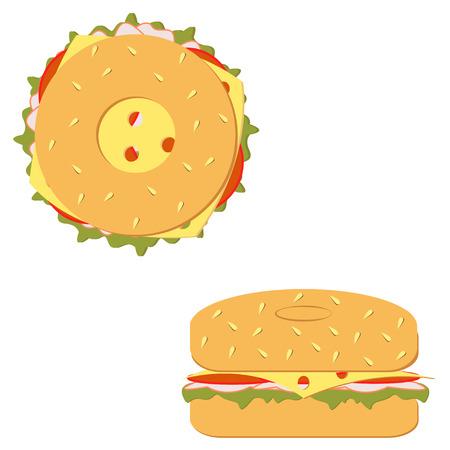 filled: Fresh bagel sandwich