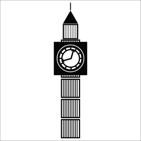 illustration of the Big Ben, the symbol of London and United Kingdom
