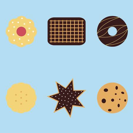 Set of different cookies Illustration