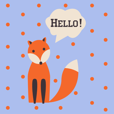 paw smart: cute fox Illustration