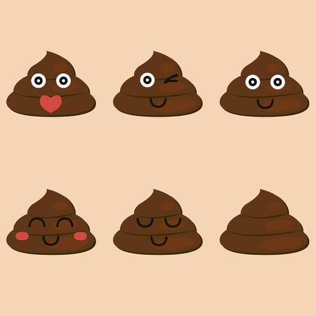 Mierda Pixel Art Turd Están Pixelados Poop Aislado