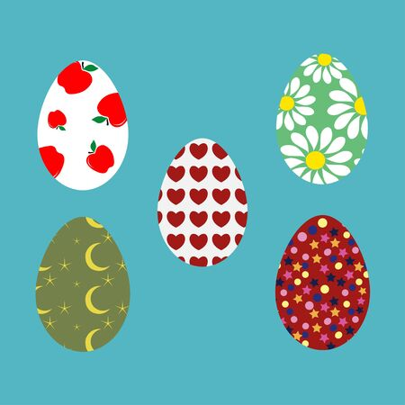 canvass: Set of Easter egg stickers