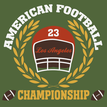 ny: los angeles typography fashion football american, t-shirt graphics