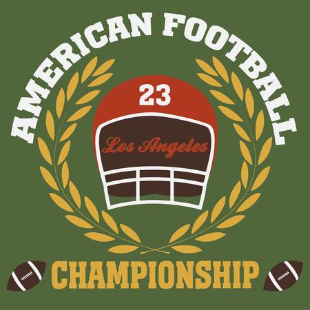 los angeles typography fashion football american, t-shirt graphics