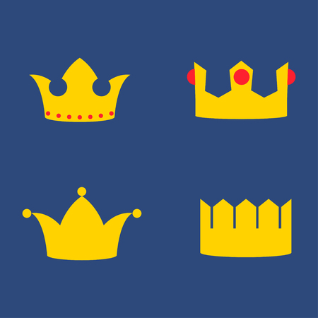 Gold Crowns Set - Set of gold crowns icons