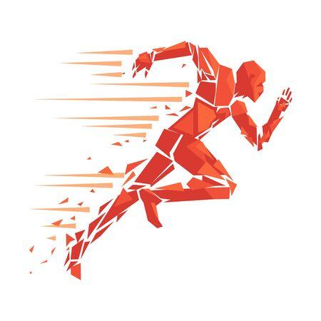 fire running man - vector