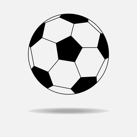 Simple style football. Soccer ball isolated on white background Illustration