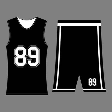 Isolated sport uniform and some basketball elements - vector