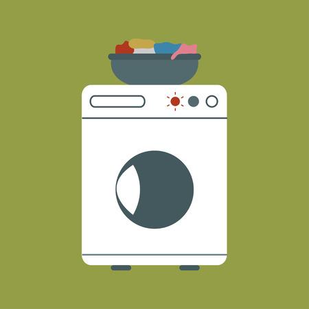 basket: Washing machine with basket