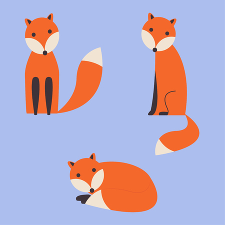 cute_foxes Illustration