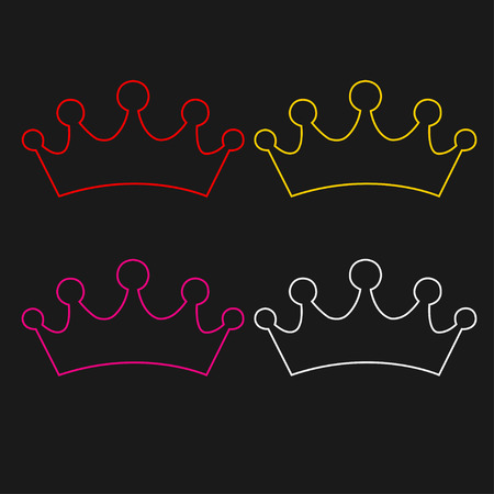 set of princess crowns Illustration