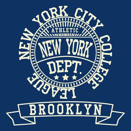 New york Brooklyn typography fashion, t-shirt Stock Photo