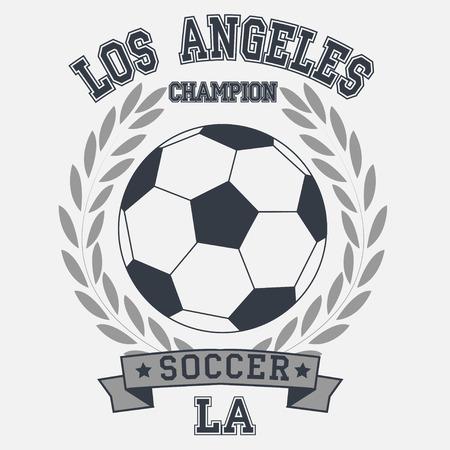 soccer badge los angeles champion t-shirt