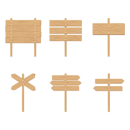 plywood: Wooden signboards arrow