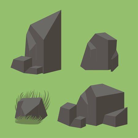 flagstone: Rock stone vector icon Illustration