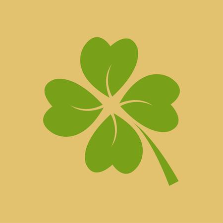 Four green leaf clover - vector