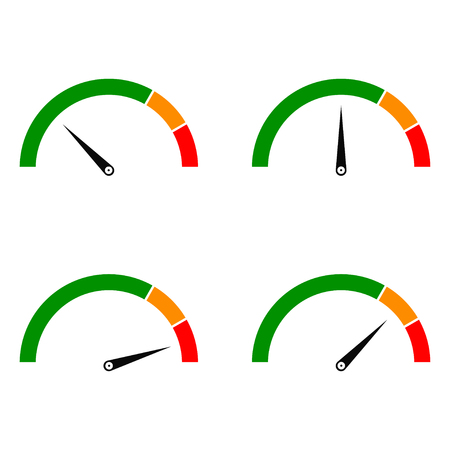 Speed metering Color Vectores