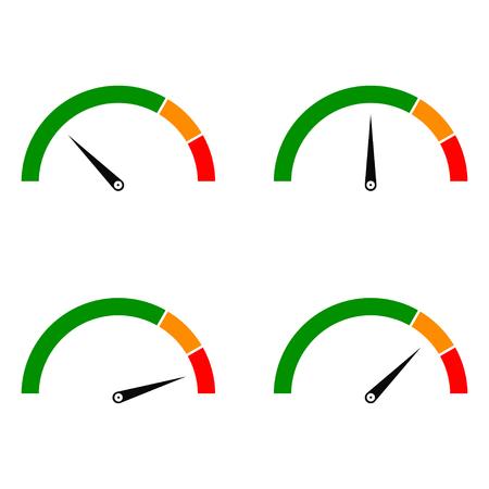 Speed metering Color Vettoriali