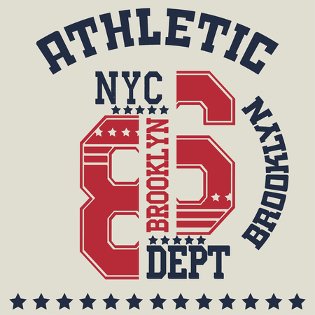 jersey: New york  typography Illustration