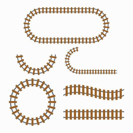 Railroad tracks construction Illustration