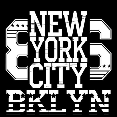 jersey: New york  typography Stock Photo