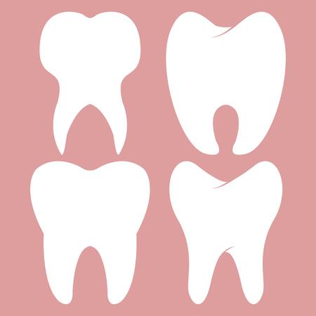 enjuague bucal: Dental diseño dientes conjunto icono vector Vectores