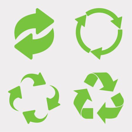 Groene recycle icon set vector Vector Illustratie