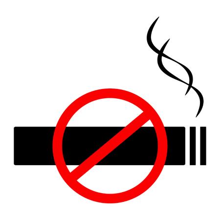 No smoking sign, symbol flat icon. Vector illustration