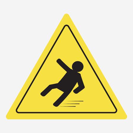 forewarn: Beware of slippery, caution wet floor - vector