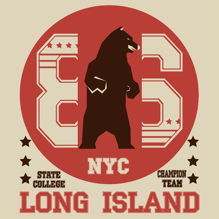 coastal: New york  typography Illustration