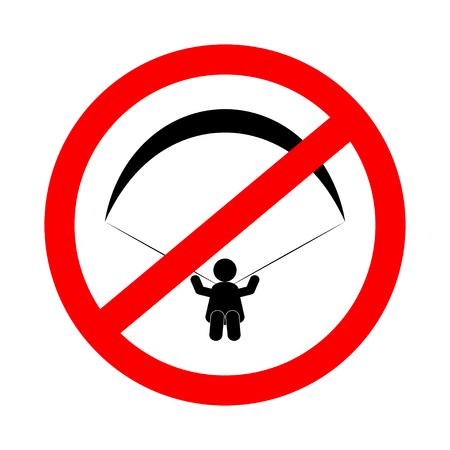 No paragliding sign