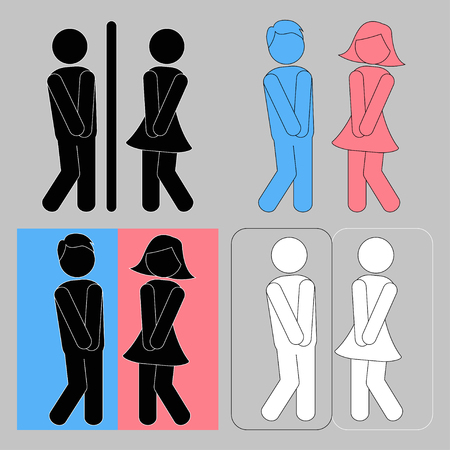 WC sign. Boy and girl toilet icons Illustration