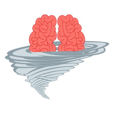 Brainstorm think idea vector illustration Illustration