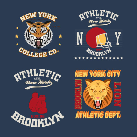 superiors: New york Brooklyn typography fashion, t-shirt graphics set - vector Illustration