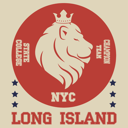 superiors: New york  typography fashion sport, t-shirt graphics king lion vector Illustration