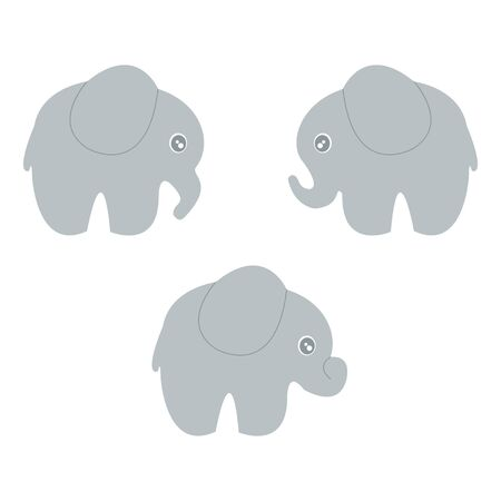 baby announcement card: Baby elephant set