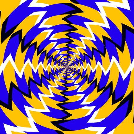 Psychedelic optical spin Stock Photo