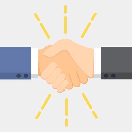 cayenne: Business man handshake. Vector illustration