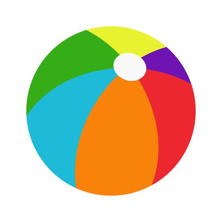 在白色背景的五颜六色的海滩球