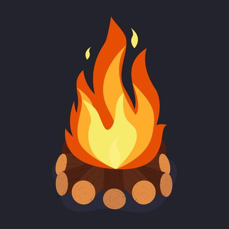 Bonfire and burning