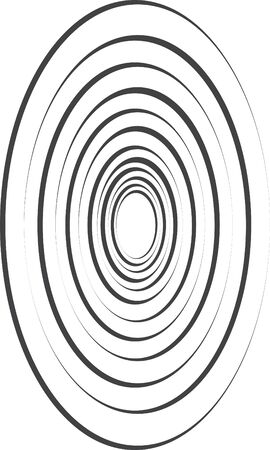 Oval shaped target illustration 向量圖像