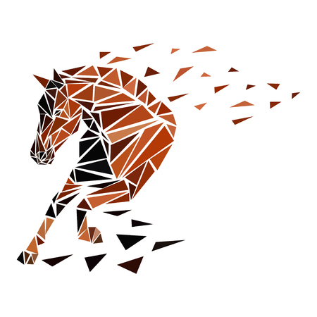 Galloping horse, particles