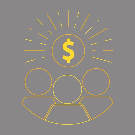 Crowdfunding and donation Иллюстрация