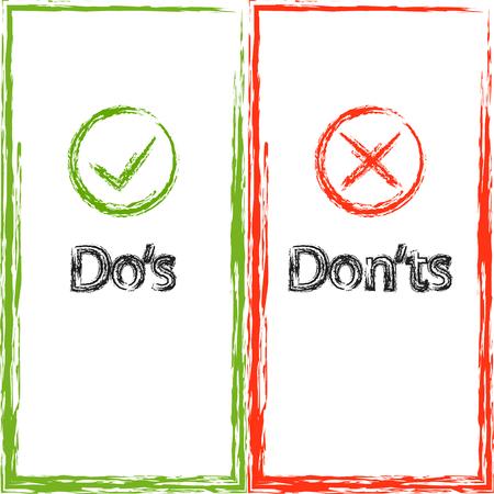 À faire et à ne pas faire