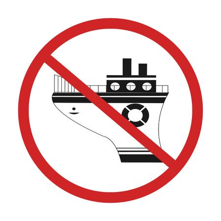 no ship vector icon design